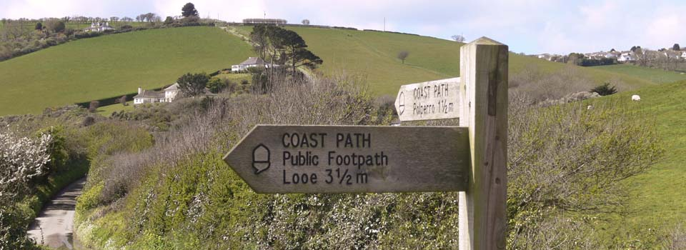 Talland Bay Signpost