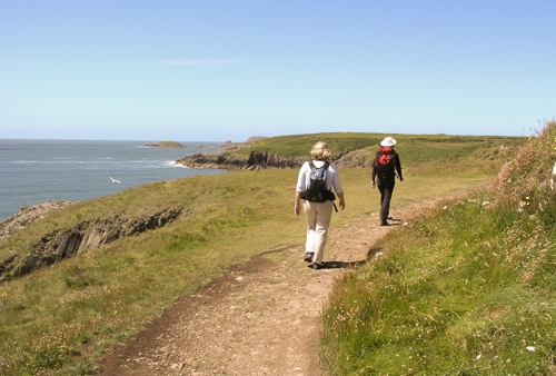 Walking on the Pembrokeshire Coast Path