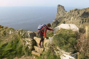 Hiking along the Cornwall coast path
