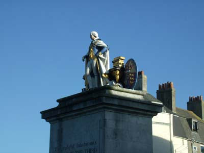 King George III statue, Weymouth