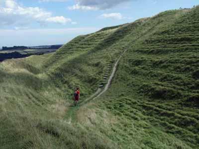 Footpath through Maiden Castle